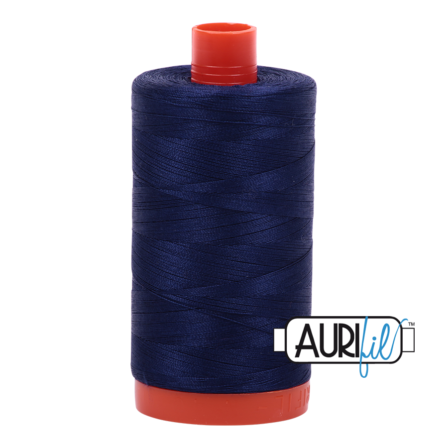 Aurifil Mako 50 Cotton - Navy - 2745