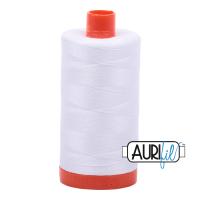 Aurifil Mako 50 Cotton/1300m - White - 2024