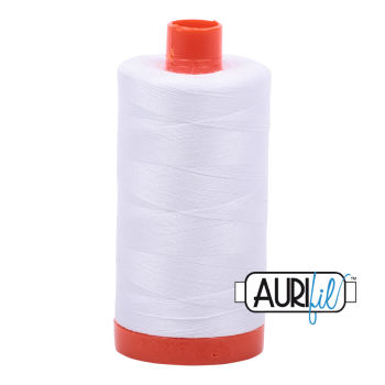Aurifil Mako 50 Cotton - White - 2024
