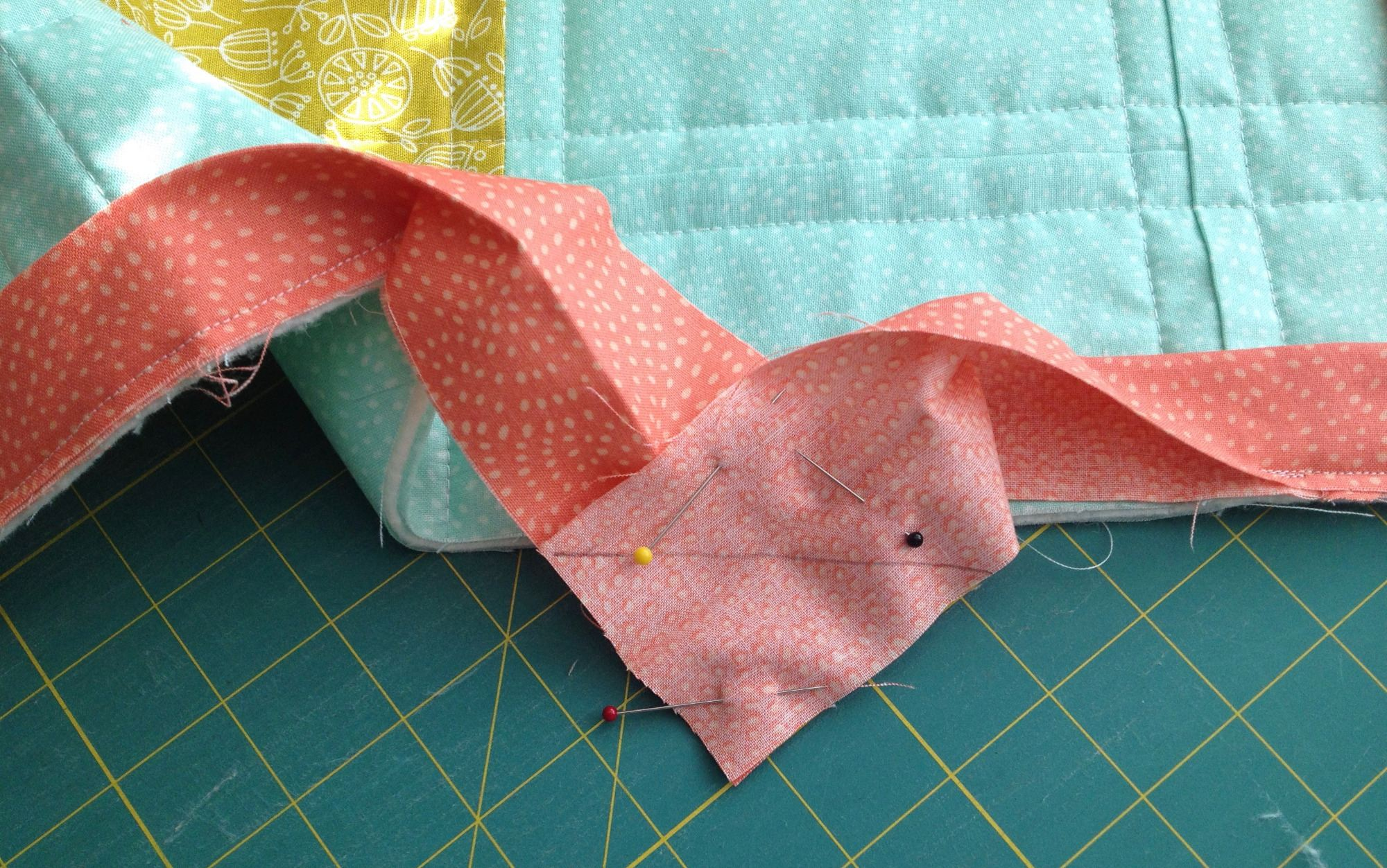 Sewing Binding Ends to eachother