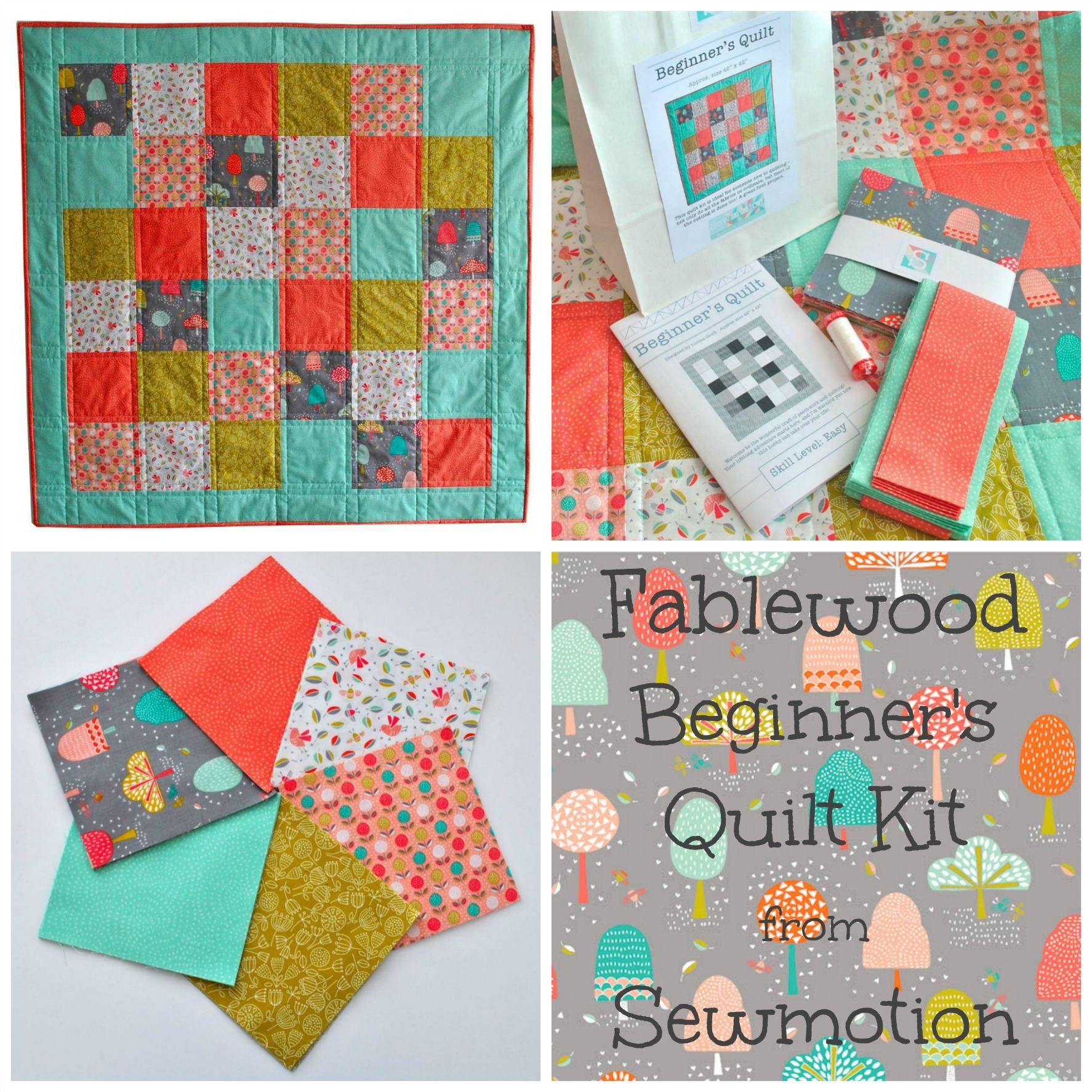 Beginner's Quilt Kit in Fablewood
