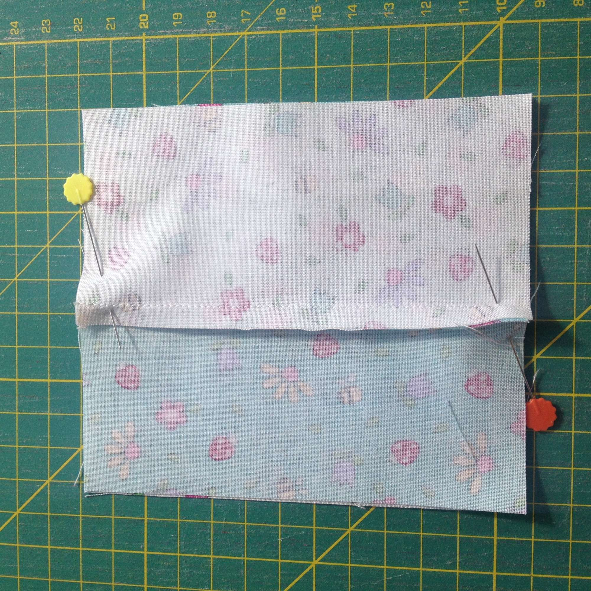four-patch trick with charm squares