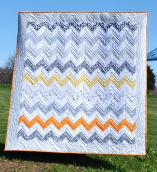 Monochrome Sunset Quilt Pattern