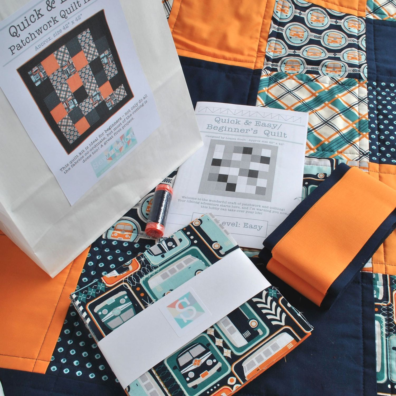 Quick & Easy Beginner's Quilt Kit in Riley Blake's Giraffes Crossing