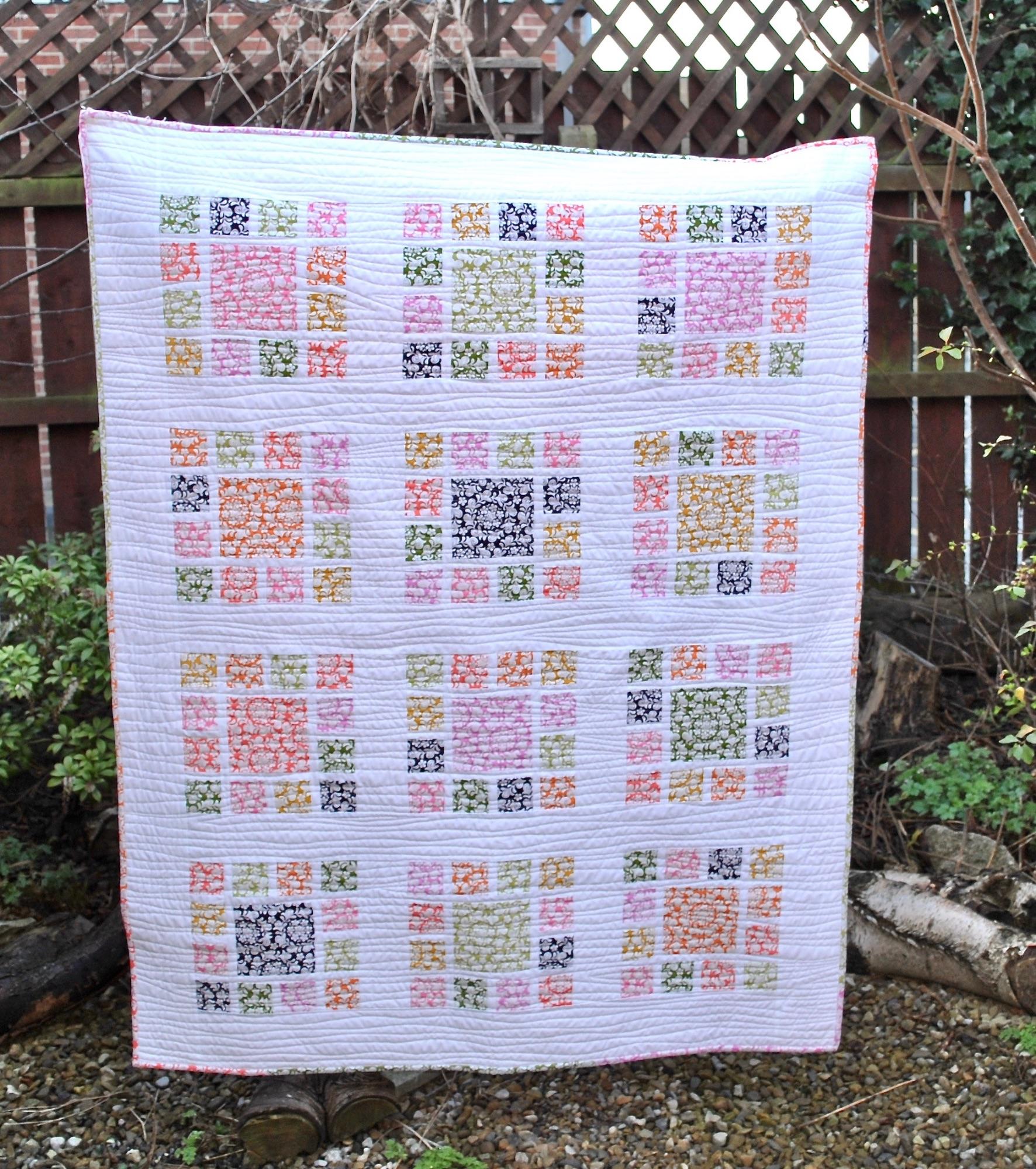 Mosaic Garden Quilt - free pattern