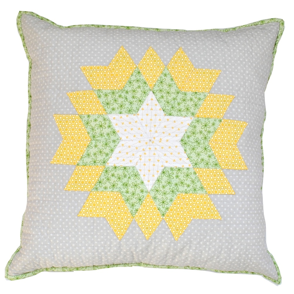 Diamond Star Cushion Kit in Springtime - English Paper-Piecing (EPP) Cushio