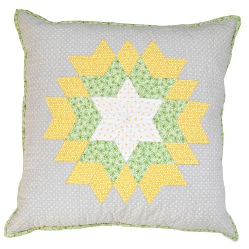 Diamond Star Cushion Kit in Springtime - English Paper-Piecing (EPP) Cushio