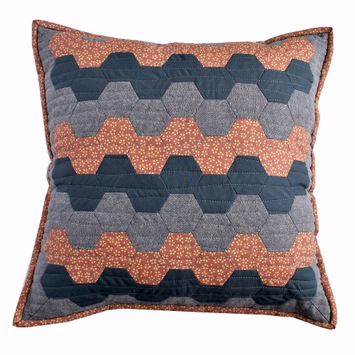 Hexy Cushion Kit in Japanese Pink & Grey - English Paper Piecing (EPP) Hexa