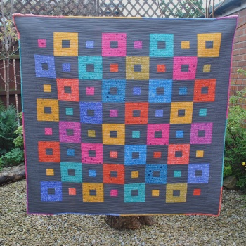All Squared Up Quilt Kit in Alison Glass's Sun Prints collection
