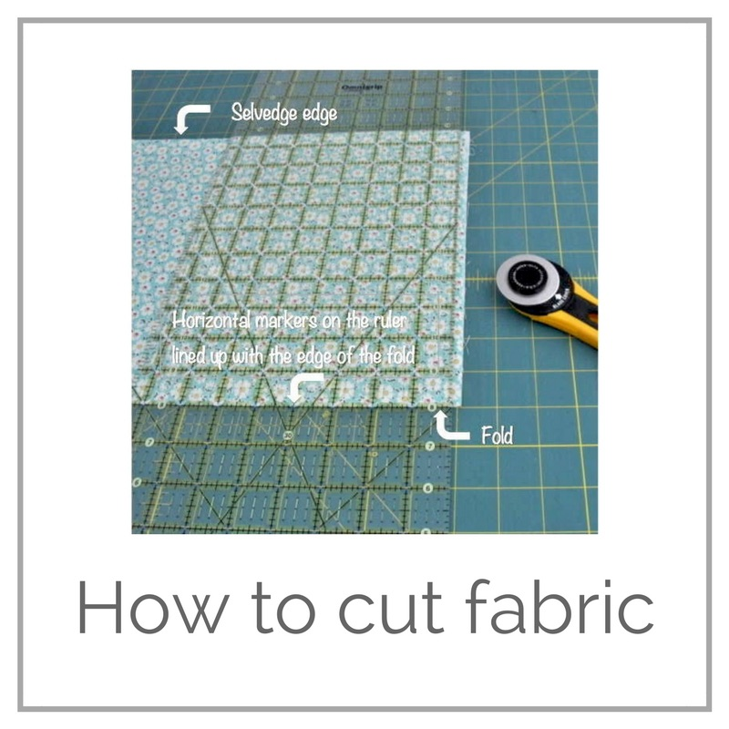 How to cut fabric tutorial