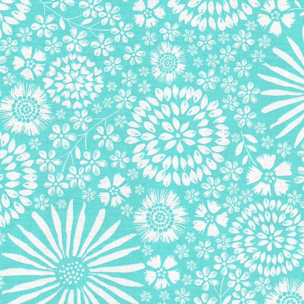 Floral Pop in Aqua from Michael Miller - DC7405-Aqua-D