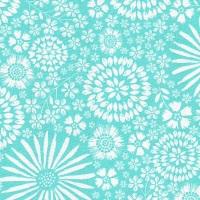Flora Pop in Aqua from Michael Miller - DC7405-Aqua-D