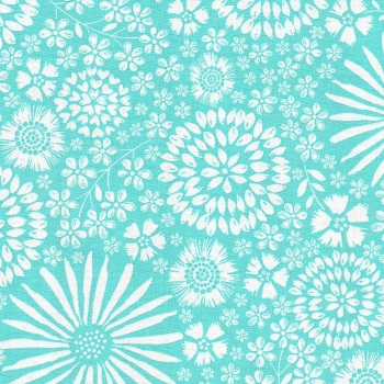 Flora Pop in Aqua from Michael Miller - DC7405-Aqua-D