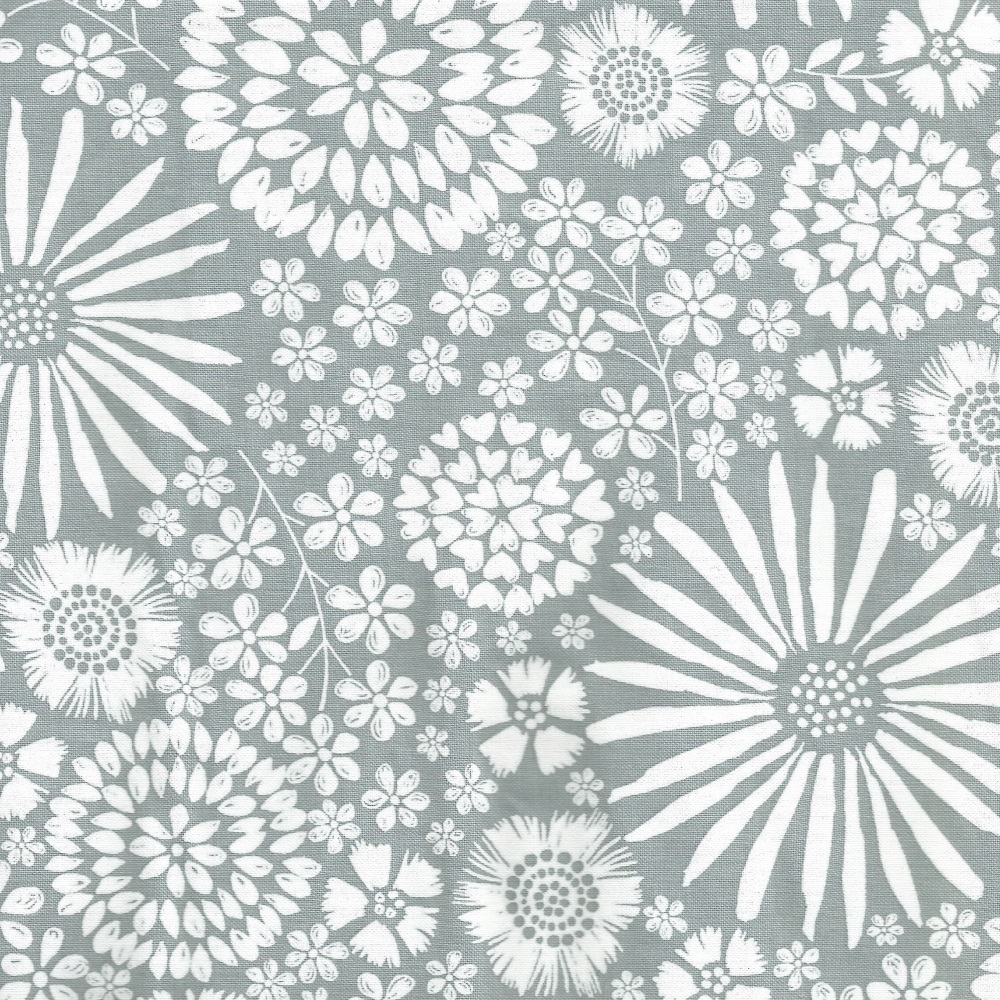 Floral Pop in Grey from Michael Miller - DC7405-Gray-D