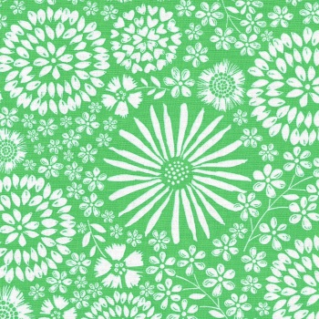 Flora Pop in Green from Michael Miller - DC7405-Gree-D