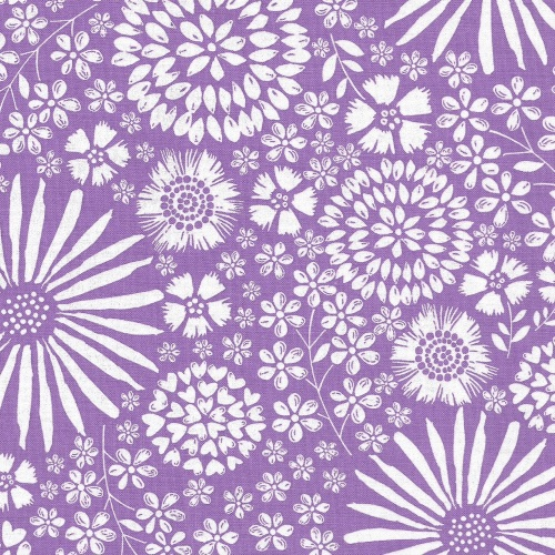 Floral Pop in Purple from Michael Miller - DC7405-Purp-D