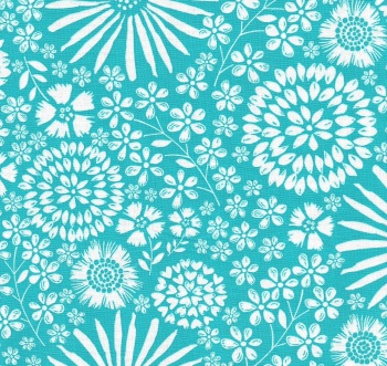 Flora Pop in Turquoise from Michael Miller - DC7405-Turq-D