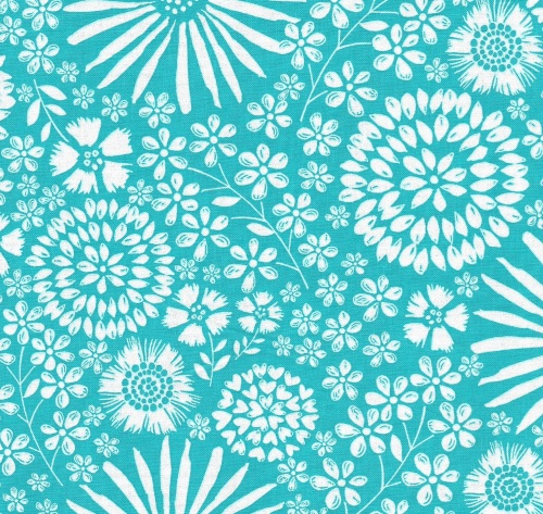 Floral Pop in Turquoise from Michael Miller - DC7405-Turq-D