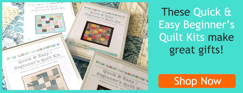 Beginner's Quilt kits banner