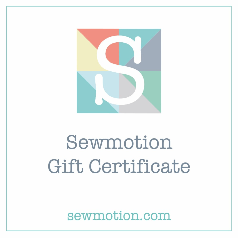 Sewmotion Gift Certificate - £10.00