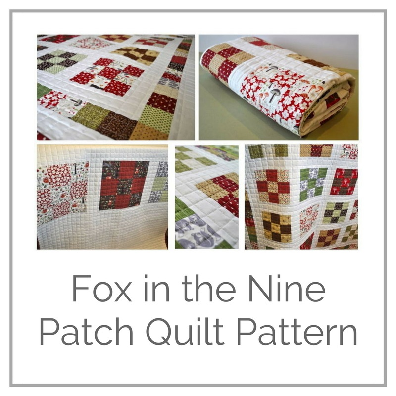 Free pattern for Nine-patch quilt