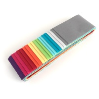 Quilter's Pre-cut 20pc Fabric Strip Set in Makower's Spectrum Solids