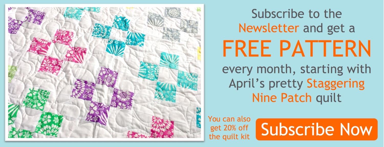 Pre-cut pattern banner April