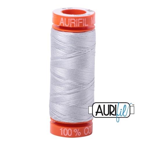 <!-- 001 -->Aurifil Mako 50 Cotton / 200m - Silver - 2600