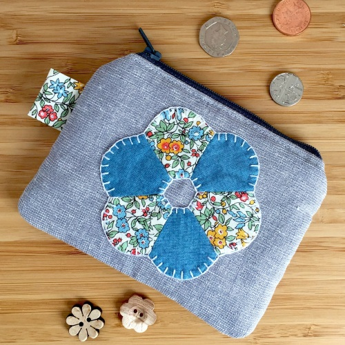 EPP Flower Purse in Liberty Blue