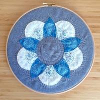 Curved EPP Flower Hoop Art Kit in Blue Sky - 10