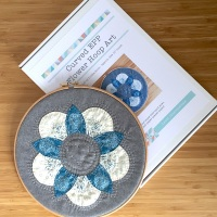 Curved EPP Flower Hoop Art Kit in Blue Sky - 10
