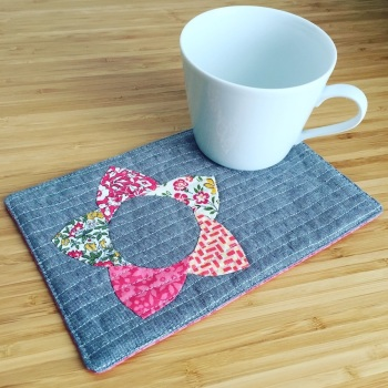 EPP Mug Rug Kit in Liberty Pinks - English Paper-piecing Kit