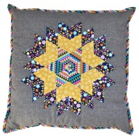<!-- 004 -->Diamond Star Cushion Pattern - Includes pre-cut papers