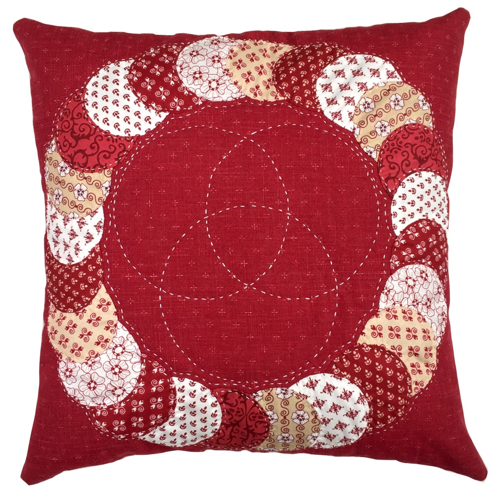 Overlapping Circles Cushion Pattern