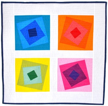 Wonky Squares Wall Hanging Pattern