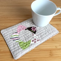 EPP Mug Rug Kit in Wildflower Pink - English Paper-piecing Kit