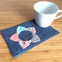 EPP Mug Rug Kit in Blues - English Paper-piecing Kit