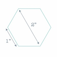 Hexagon Paper Pieces - 100 Pre-cut Papers for English Paper-piecing - 1