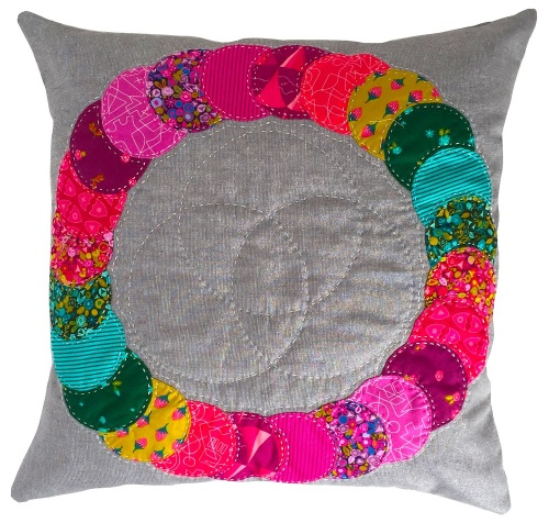 <!-- 006 -->Overlapping Circles Cushion in Alison Glass's Road Trip Prints