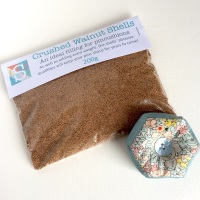 Crushed Walnut Shells - 200g, Pincushion Filling, Stuffing for Pincushions
