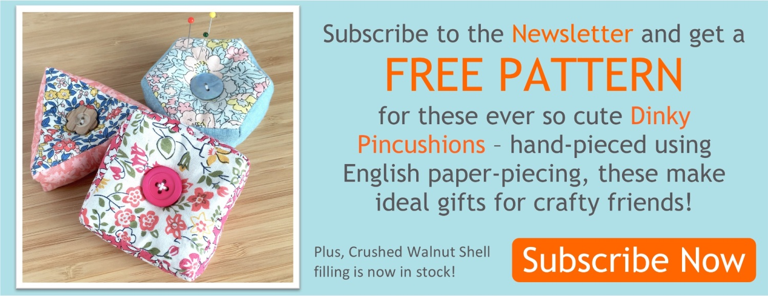 Banner Dinky pincushions - Oct PCP