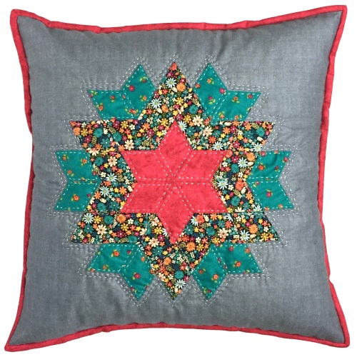 Flower Burst Cushion Kit in Bloom Prints - (EPP) English Paper-Piecing Kit