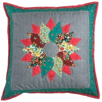 <!-- 004 -->Wreath Cushion Kit in Bloom Prints - Curved English Paper-Piecing Kit, (EPP)