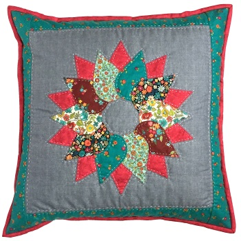 Wreath Cushion Kit in Bloom Prints - Curved English Paper-Piecing Kit, (EPP)