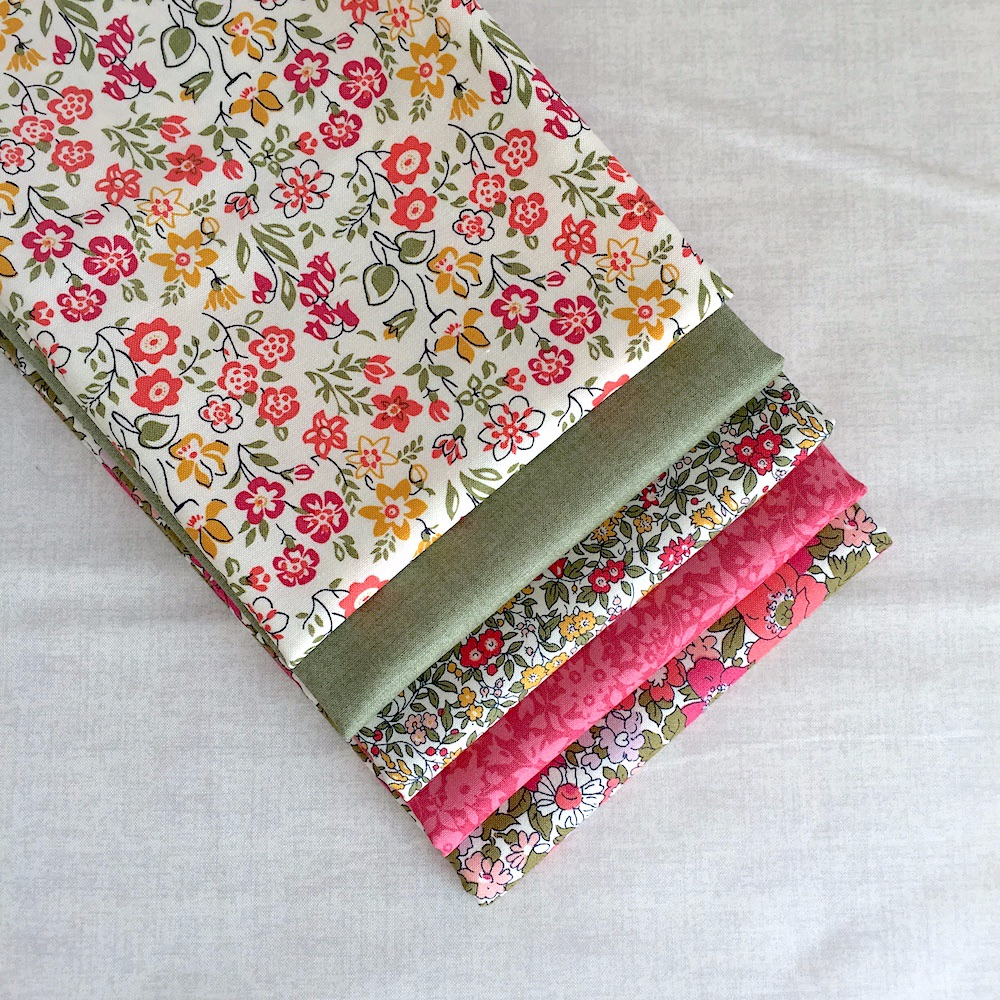 Liberty Pinks Fabric Bundle for Birds of a Feather Mystery Quilt