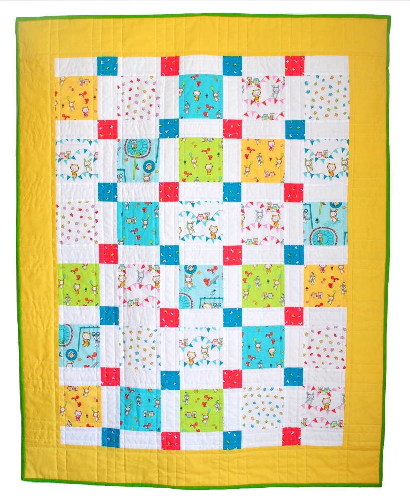 Novelty Nine Patch Baby Quilt
