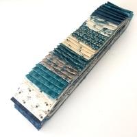 Royal Blue 40pc Strip Set - Quilting Pre-cut, Jelly Roll, Edyta Sitar