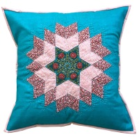 <!-- 001 -->Diamond Star Cushion Kit in Liberty Pinks - (EPP) English Paper-Piecing Kit
