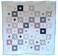 <!-- 005 -->All Squared Up Quilt Kit in Liberty Purple & Grey