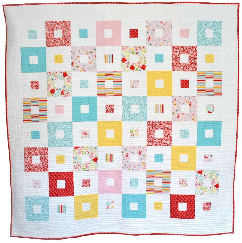 All Squared Up Quilt in Riley Blake's Happy Day